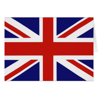 British flag greeting card