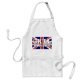 British flag Grill master BBQ apron for men
