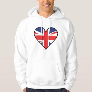 British Flag Heart Hoodie