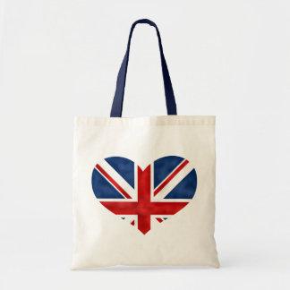 British Flag Heart Tote Bag