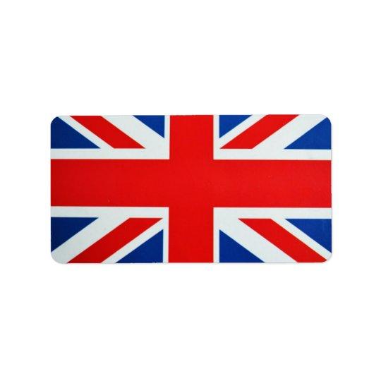 British Flag Label