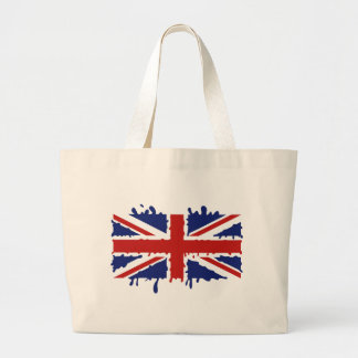 British flag large tote bag