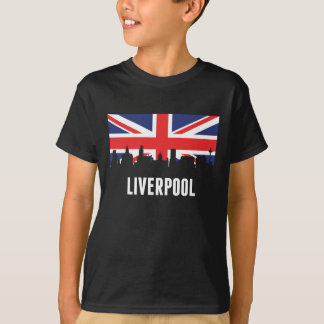 British Flag Liverpool Skyline T-Shirt