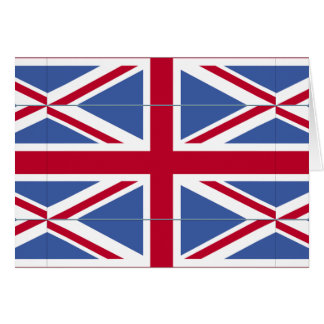 BRITISH FLAG mash Greeting Card