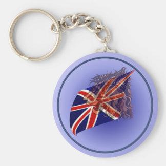 British Flag 'n' Lion Keychain
