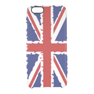 British flag paint splash clear iPhone 6/6S case