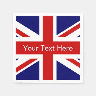 British flag paper napkins | Union jack design Disposable Napkin