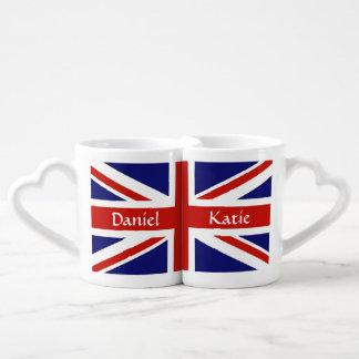 British Flag Personalized Mug Set