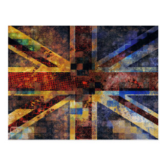 British Flag Postcard Grunge Abstract Union Jack