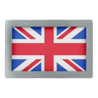 British Flag Rectangular Belt Buckle