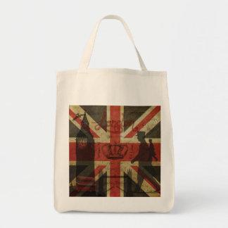 British Flag Red Bus Big Ben Authors Tote Bag