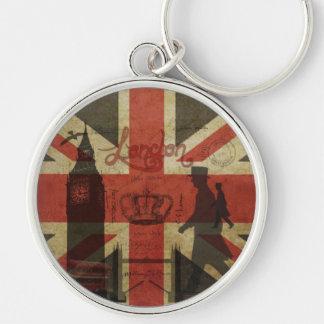 British Flag, Red Bus, Big Ben & Authors Keychain