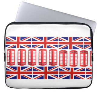British Flag Red Phone Booth Laptop Sleeve