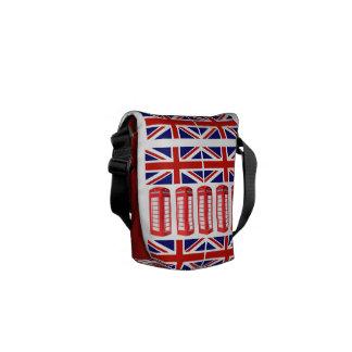 British Flag Red Phone Booth Mini Messenger Bag