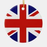 British flag round ceramic decoration