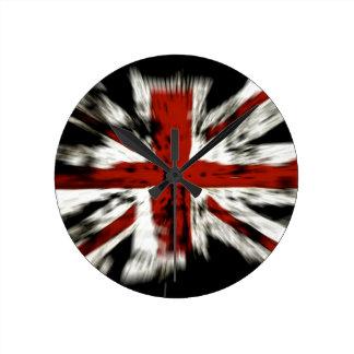 British Flag Round Clock