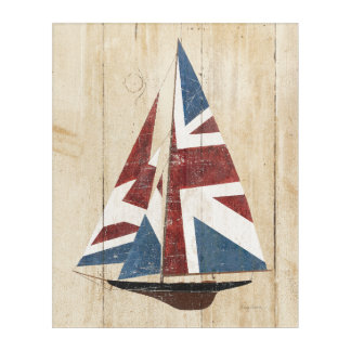 British Flag Sailboat Acrylic Print
