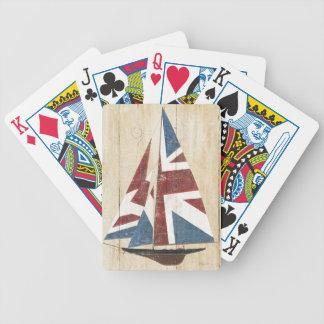 British Flag Sailboat Bicycle Playing Cards