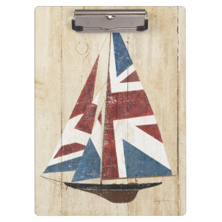 British Flag Sailboat Clipboard