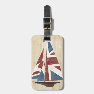 British Flag Sailboat Luggage Tag