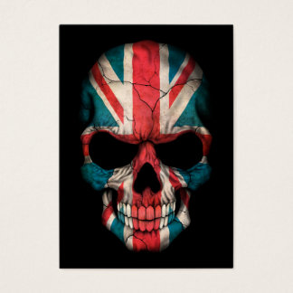 British Flag Skull on Black