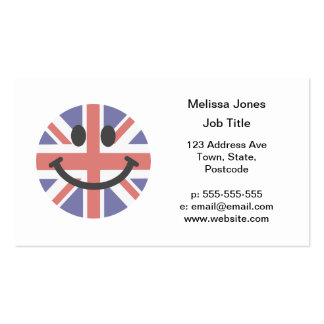 British Flag Smiley face Pack Of Standard Business Cards