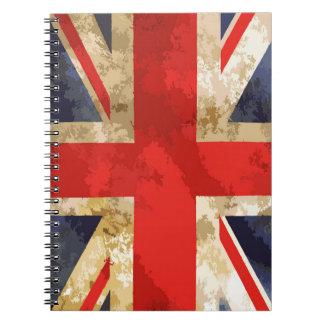 British Flag Spiral Notebook