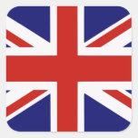 British flag square stickers