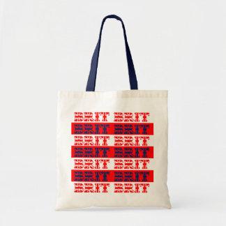"""British Flag Stripe """"BRIT"""" Bags"""