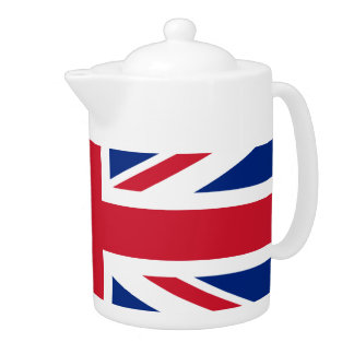 British flag teapot