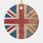 British Flag, (UK, Great Britain or England) Christmas Ornaments