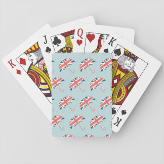British Flag Umbrella Pattern Playing Cards