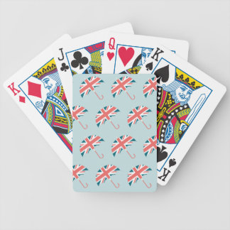 British Flag Umbrella Pattern Poker Deck