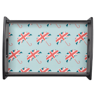 British Flag Umbrella Pattern Serving Tray