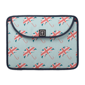 British Flag Umbrella Pattern Sleeve For MacBook Pro