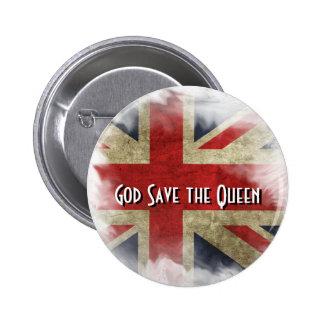 British Flag Union Jack. God Save the Queen 6 Cm Round Badge