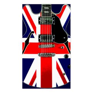 British Flag Union Jack Guitar Business Card Template