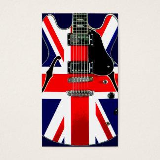 British Flag Union Jack Guitar Business Card