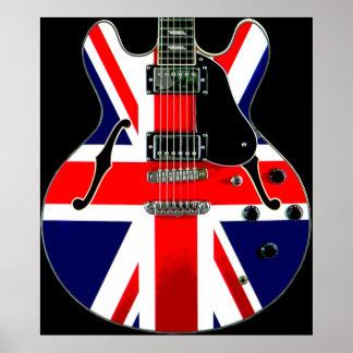 British Flag Union Jack Guitar Print