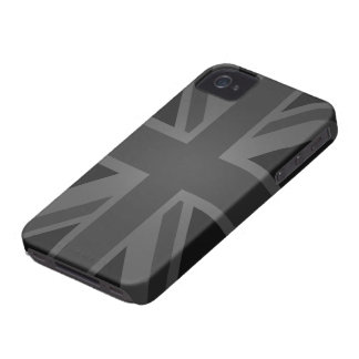 British Flag (Union Jack) in Black iPhone 4 Case