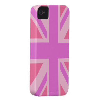 British Flag (Union Jack) in pink iphone Case-Mate iPhone 4 Case