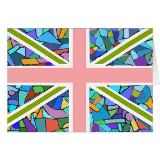 British Flag Union Jack inspired by Gaudi Mosaics Card