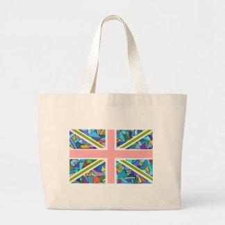 British Flag Union Jack inspired by Gaudi Mosaics Jumbo Tote Bag