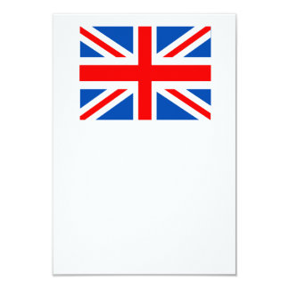 British flag, various gifts 9 cm x 13 cm invitation card