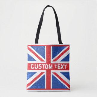 British Flag, Vintage Phone Book | Customized Tote Bag