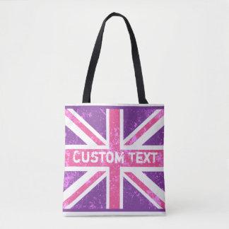 British Flag, Vintage Phone Book   Customized Tote Bag