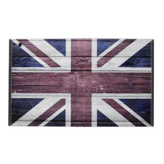 British Flag Vintage Wood iPad Folio Case