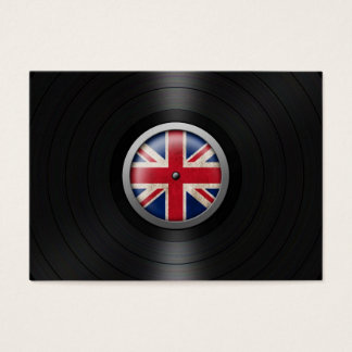 British Flag Vinyl Record Album Graphic