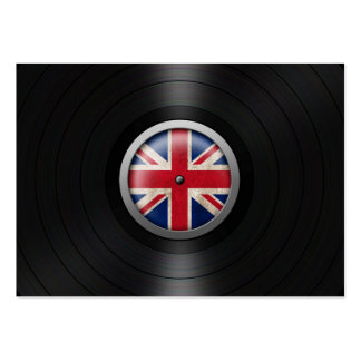 British Flag Vinyl Record Album Graphic Pack Of Chubby Business Cards