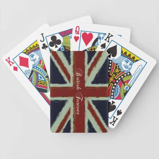 British Forever-Union Jack/Painterly Version Bicycle Card Decks